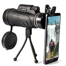 50X52 Zoom HD Optical Prism Monocular Telescope+Tripod+ Clip Day&Night .Vision#