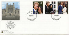 Bermuda 2018 FDC Prince Harry & Meghan Royal Wedding 3v Set Cover Royalty Stamps