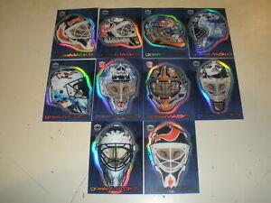 1999-00 Pacific Dynagon Ice Goalie Masks Complete Set (10) Roy Brodeur
