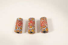 3 Millefiori Glasperlen CP35 3 Old Venetian African Trade Beads Murrine Afrozip