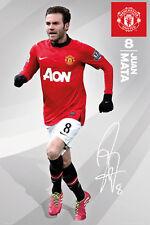 JUAN MATA SIGNATURE SERIES Manchester United FC EPL Soccer Action POSTER
