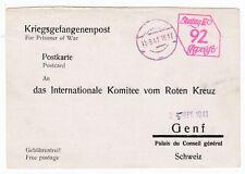 WW2 Amman Transjordan Prisoner War Notification of Capture Card 1941 Stalag 111D