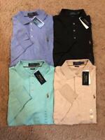 NEW Polo Ralph Lauren Men Soft Touch Polo Shirt Long Sleeve Classic Fit