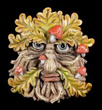 espíritu del bosque relieve de pared - pilzgesicht - FANTASY baumgeist greenman