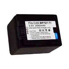 2680mAh BP-727 Intelligent Battery for Canon VIXIA HF R400 R500 R600 R60 R62