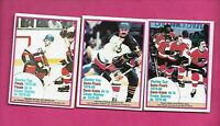 3 X  1980-81 OPC  PLAYOFF EX-MT CARD    (INV# C2077)