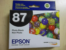 """GENUINE EPSON #87 INK Black Cyan Magenta Red Rouge Gloss Optimizer """" YOU PICK """""""