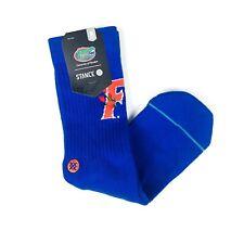 Stance Men Blue Crew Cotton University of Florida Gators Flourish Socks M 6-8.5