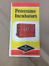 Original Brochure Petersime Incubators Gettysburg Ohio INV-P1066