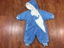 Vintage Jayel Childrenswear Blue Elephant Baby Snowsuit Bunting Size 12 Months