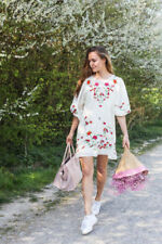 Boho Floral Dresses for Women with Embroidered