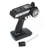 2.4GHz 3CH Radio Remote Control RC Car/Boat Toy LCD Transmitter + Receiver New