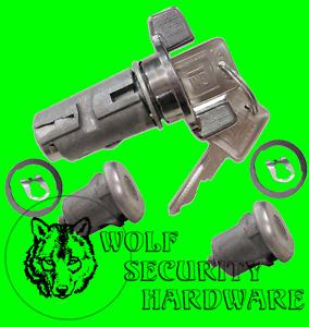 Chevy GMC C K Pickup 79-87 Chrome Ignition & Door Lock Key Cylinder Set W/2 Keys