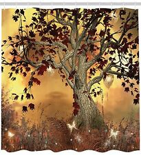 Old Twisted Tree Fabric Shower Curtain Extra Long 84 Inch Bathroom Decorations