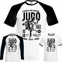 Judo Strength & Courage Mens Martial Arts T-Shirt MMA Training Top