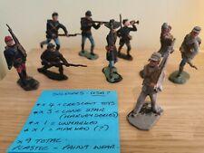 Vintage - Cherilea / Crescent / Lone Star - Plastic toy soldiers - x9 - Good.