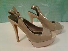 Jessica Simpson Women's Beige Platform Shoes Size 7 1/2B High Heels