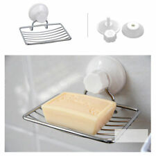 Stainless Steel Suction Cup Soap Dish Wall Holder Storage Bathroom Shower Sink