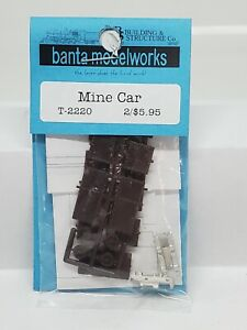 S Scale-Sn3-1/64-MINE CAR KIT-Banta Modelworks-2 pieces-Plastic, white metal