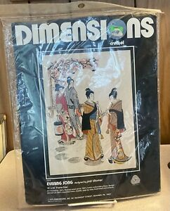 Dimensions Crewel Embroidery Evening Song by Pat Zitomer NIP