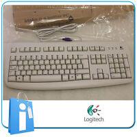 Teclado Logitech Deluxe 250 Blanco PS2 OEM nuevo 967641-0104 ps/2