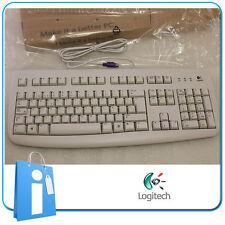 LOTE 10 x Teclado Logitech Deluxe 250 Blanco PS2 OEM nuevo 967641-0104 ps/2 lot