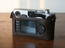 Mr.Zhou Brown Leather Half Case for Leica M8 M9 M9P Accommodates ThumbsUp Grip