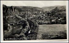 BAD MÜNSTER a. Stein AK Dt. Reich 1935 Blick vom Stegfelsen Perle d. Nahe-Tales