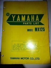 Yamaha Parts List Manual 1974 MX125