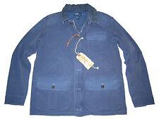 Polo Ralph Lauren Blue Canvas XL Work Jacket Marine Cargo Coat