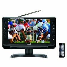 "New Supersonic 9"" Portable Rechargeable Digital Lcd Tv w/ Tuner Speakers Remote"