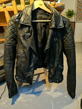 Zara Real Leather Lambskin Jacket Medium black