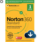 Norton 360 Standard 1 Device 1 Year US Real-time Threat Protection Ships Fast