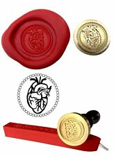 Wax Stamp, ANATOMICAL HEART Body Anatomy Design and Red Wax Stick XWSC199-KIT