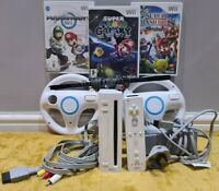 Nintendo Wii Console &Super Mario Game Bundle !*1 DAY DISPATCH!*Cleaned&Tested!*