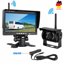 "7"" Monitor Drahtlos LKW Wohnmobil +Kabellos Rückfahrkamera Video Funk Nachtsicht"