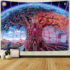 Tree of Life Tapestry Wall Hanging Hippie Psychedelic Home Bedspread Decorations