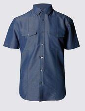 Camicie classiche da uomo blu XXXL