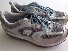 Women's Skechers Shape Ups 12320 ACCELERTORS Silver/Blue Size 10 Walking Toning