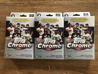 NEW 2020 Topps Chrome Update Hanger Boxes - 3x MLB Chrome Trading Card Hangers