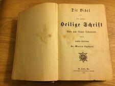 ANTIQUE HOLY BIBLE DIE BIBEL GERMAN TRANSLATION AFTER DR. MARTIN LUTHER