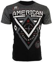 AMERICAN FIGHTER Mens T-Shirt ALASKA PATTERN Biker ELEPHANT PRINT Gym UFC $40