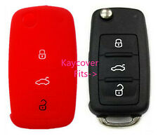 RED CAR KEY COVER for VW VOLKSWAGEN EOS GOLF JETTA PASSAT POLO TIGUAN TOURAN