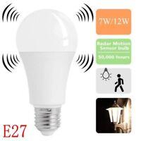E27 Radar Sensor Ambient PIR Motion 7/12W LED Globe Bulb Light Lamp Practical hi