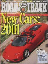 Road & Track magazine 10/2000 featuring Ferrari road test, Mercedes, BMW M