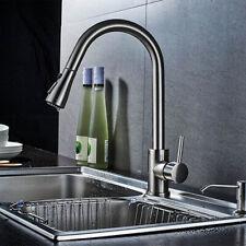 Kitchen Pull Out 360°Swivel Spout Mixer Tap Laundry Sink Basin Faucet Taps