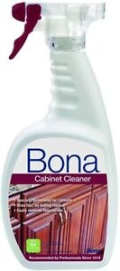 Bona Cabinet Cleaner 32 oz Dries Fast Non-Toxic Biodegradable Spray Bottle NEW