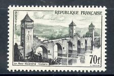 TIMBRE FRANCE NEUF N° 1119 ** LE PONT VALENTRE CAHORS COTE 24 €