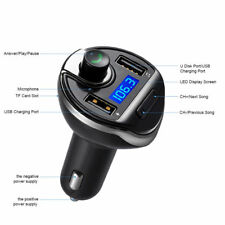 New Bluetooth Car MP3 FM Wireless Transmitter Dual USB LCD Charger Kit Handsfree