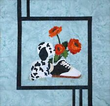 Poppies & Pup Quilt sewing pattern  by Melanie Formway Chang